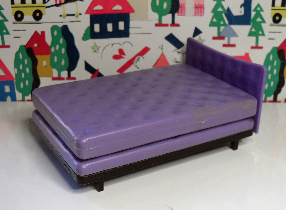 Purple Double Bed with Mattress 1008