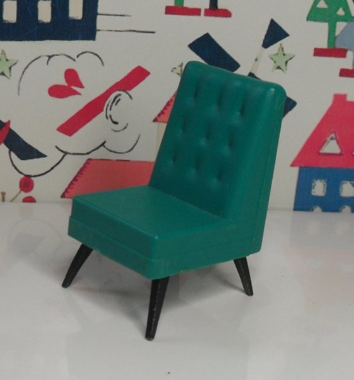 G Plan TV Chair Green 1007
