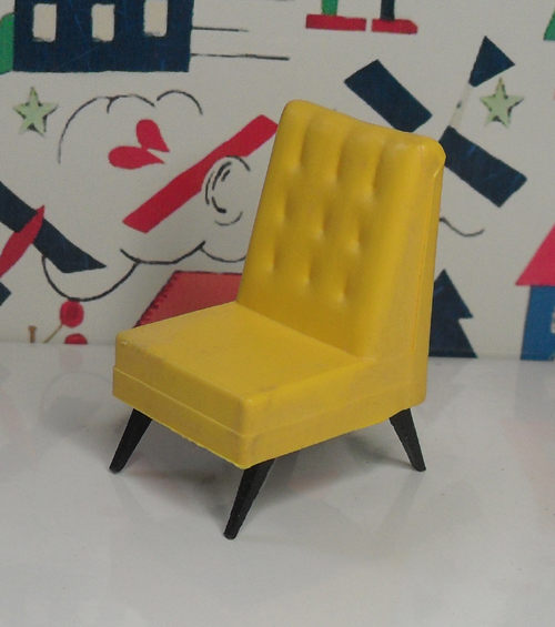 G Plan TV Chair Yellow 1007
