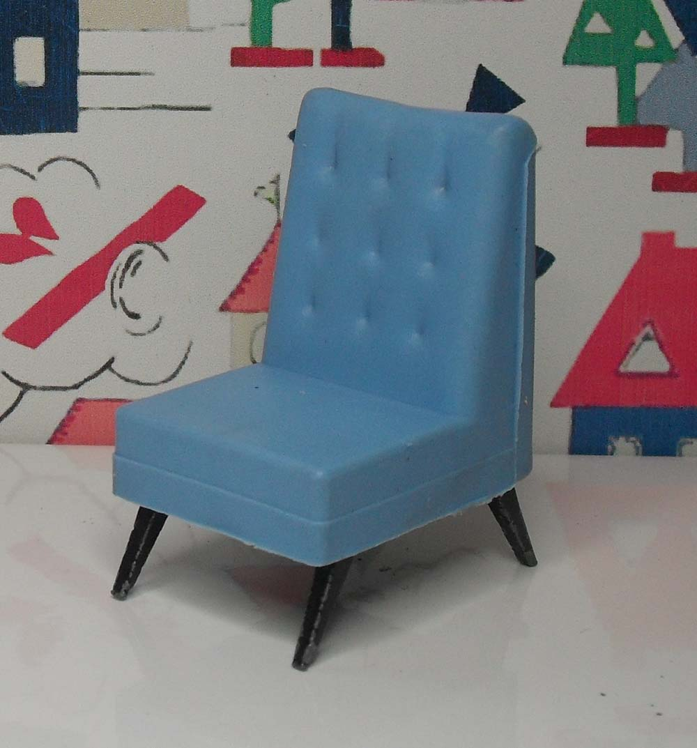 G Plan TV Chair Blue 1007