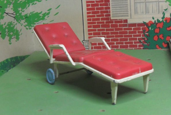 Triang Sun Lounger Red 1118