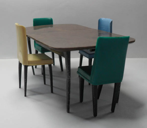 Triang Dining Room Table [1000] Dining Room Chairs [1001]