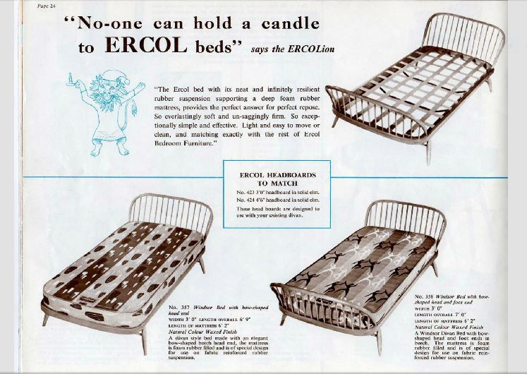 Ercol Furniture Catalogue 1956