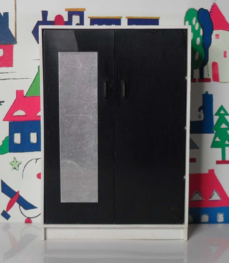 Triang Black and White Wardrobe 1009