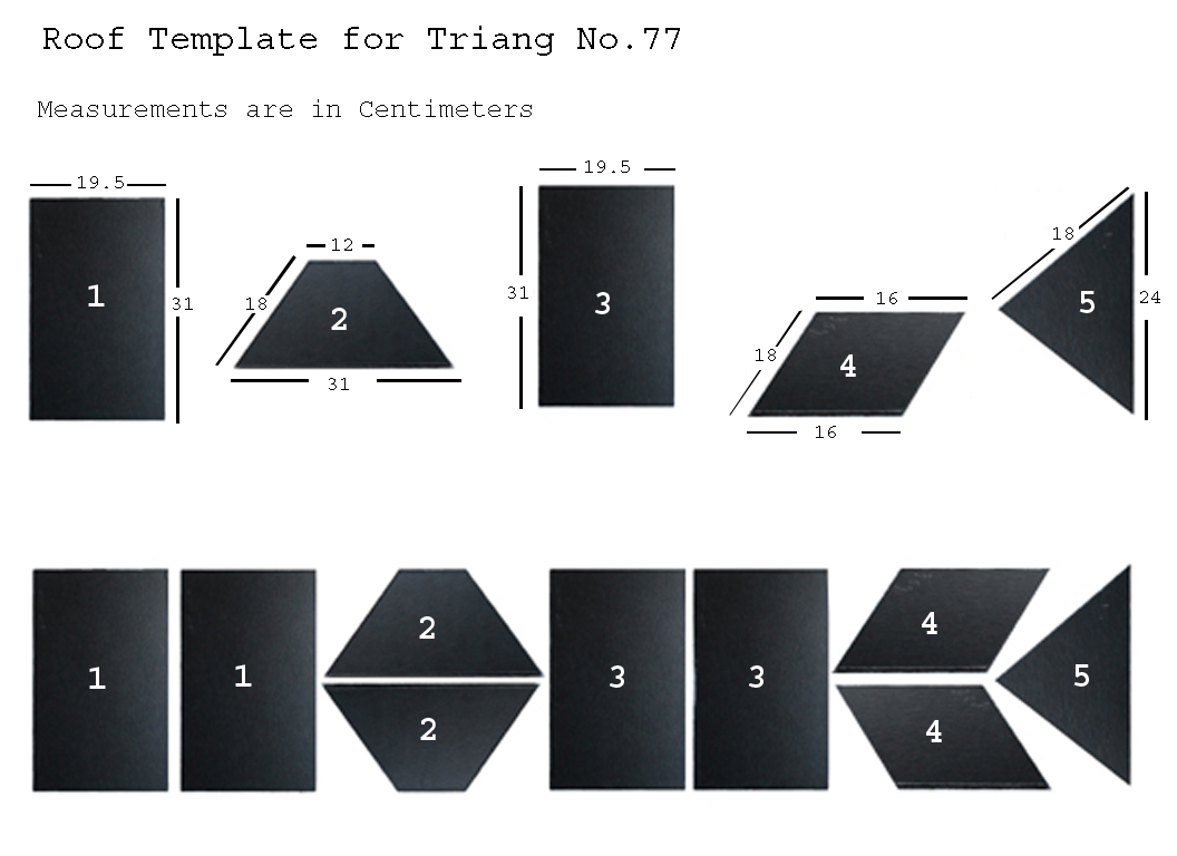 Triang No.77 Roof Template